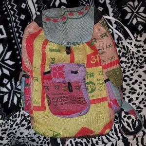 Drug Rug Baja Burlap backpack